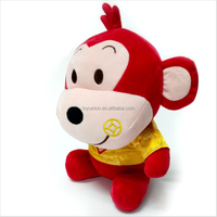 Hot selling new design chinese new year plush toy monkey with clothing