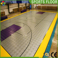 Popular colorful university prefabricated basketball court