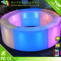LED light furniture round bar table illuminated bar counter