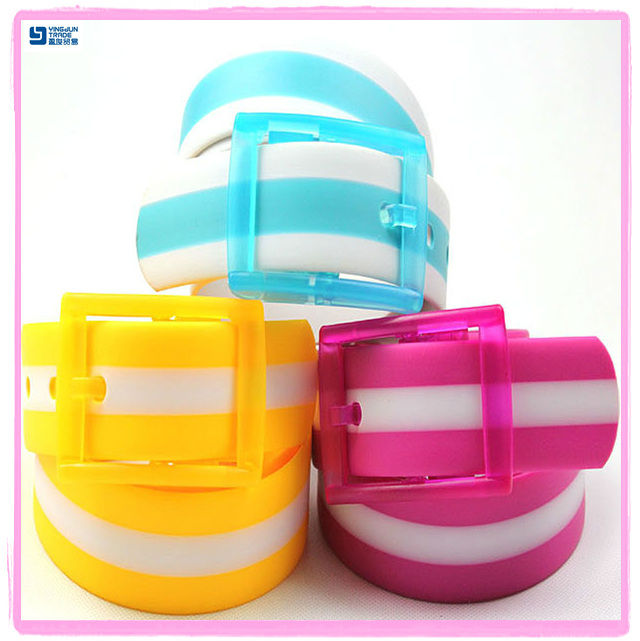 fashion patent stripe plastic silicone belt YJ-FC321-3