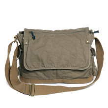 0604 Best Selling Stylish Vintage Green Man Canvas Shoulder Bag Men Bag for School Travel