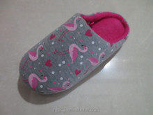 swan printed clog slipper shoes