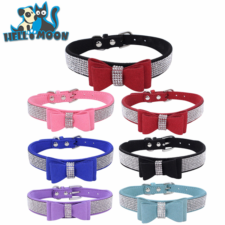 Naughty And Nice Holiday Fake Diamond Dog Collar