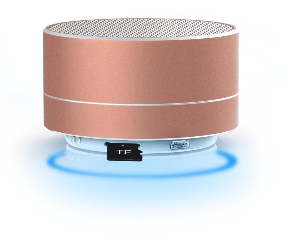 Wireless small bluetooth speakers with led