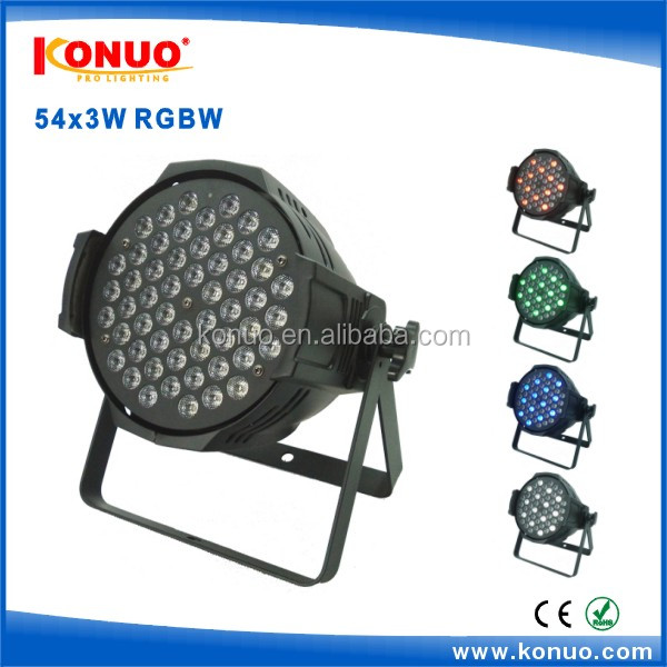 Die-cast aluminium 54x3W led par light DMX LED rgbw par64