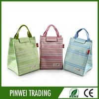2015 new popular insulated insulated cooler lunch bag with velcro closure