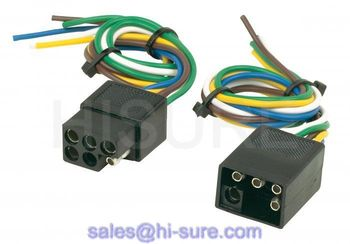 6 pin wire plug, 6 pin square trailer plug, 6 pin trailer plug