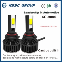 12-32V standard size 4C 9006 3000lm COB chips led car electric motorcycle headlight conversion kits