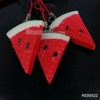 Artificial watermelon realistic simulation fruit mobile pendant