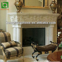 White Marble Cheap Electric Fireplace Surround for England
