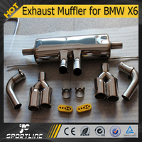 JC Auto Parts Steel LM Style Exhaust Muffler for BMW X6 E71 4.4T xDrive 50i