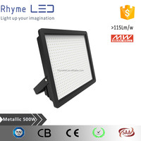 MEANWELL power and Top quality IP65 500W LED Floodlight for outdoor