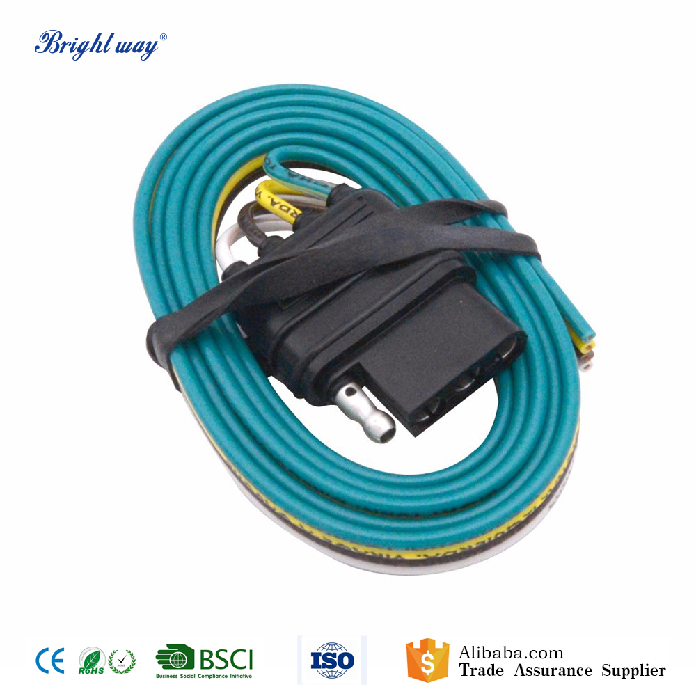12v Electrical 4 Pin Trailer Wire Connectors With Extension Cable ...