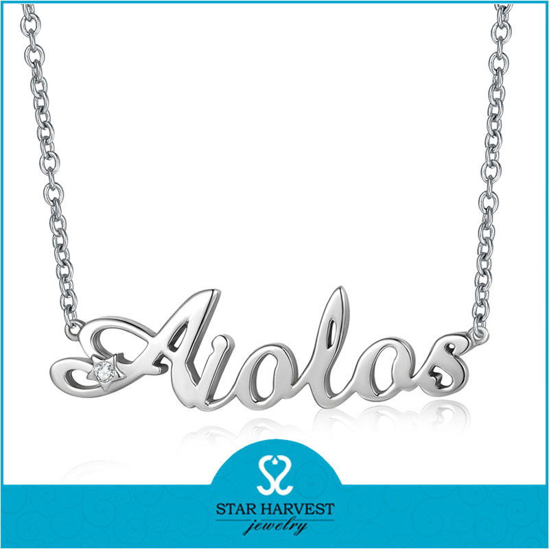 latest designs sterling silver necklace for woman