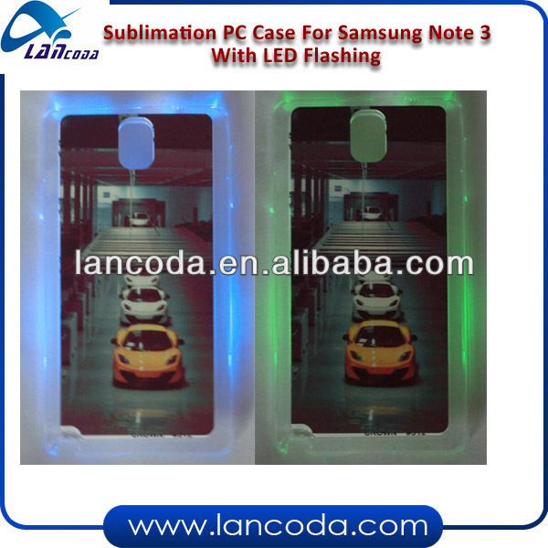 Sublimation Case For Samsung Galaxy Note3 With Led Flashing