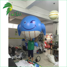 Custom Made Cheap Lovely Inflatable Whale Advertising Balloon