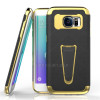 Factory Direct Supply Rugged Impact Electroplated Hybrid Kickstand Hard Cover For Samsung Galaxy S7 Case