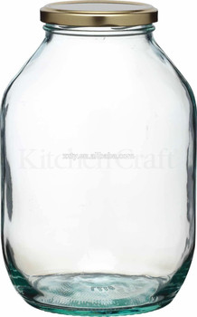 Traditional Large Gallon Twist Lid Glass Preserving Pickling Storage Jar