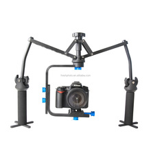 factory direct best stability bearing 6kg aluminum 3 axis gyro dual handheld mobile phone stabilizer for video cameras