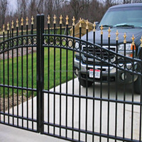 metal Security Gate/ Wrought iron metal garden fence and gate components