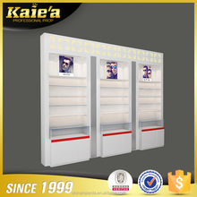2017 New design wood and glass eyeglasses display case for shopping mall