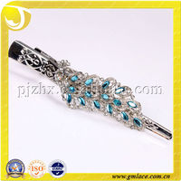 Metal Curtain Clips With Blue Decoration Peafowl For Fastening Curtain Drapery Valances Mosquito Net