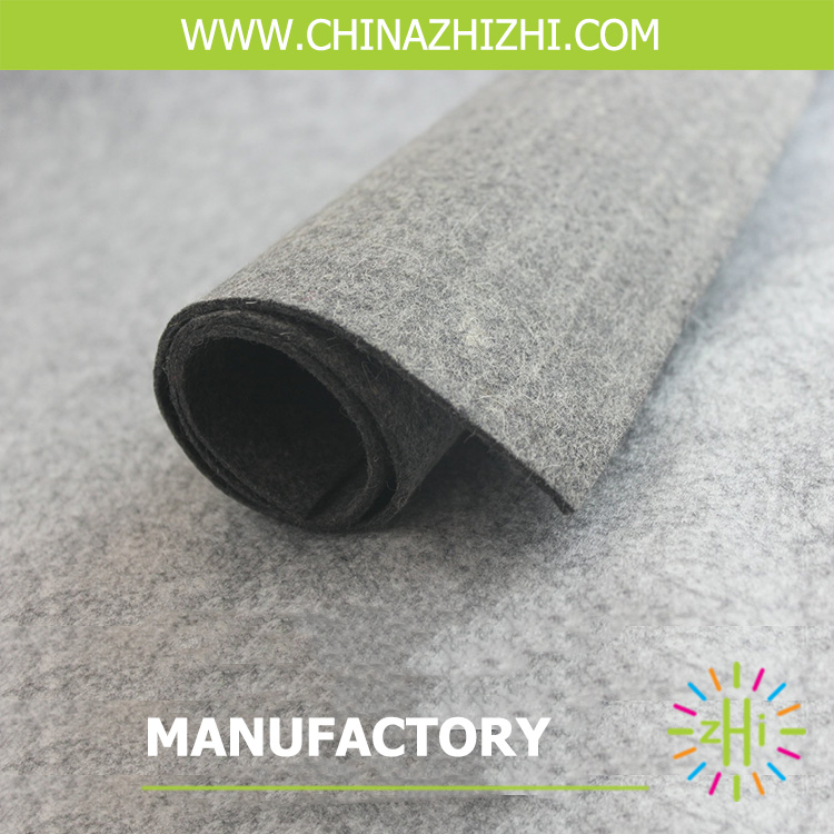 hot sale grey white fabric felt 100% polyester felt nonwoven felt with 5 mm thickness