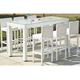 Classic compact philippine outdoor furniture set cheap synthetic white rattan elegant dining table sets