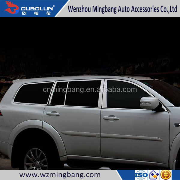 Stainless Steel Window Moulding Trims for Pajero Sport 2014 Car Accessories High Quality