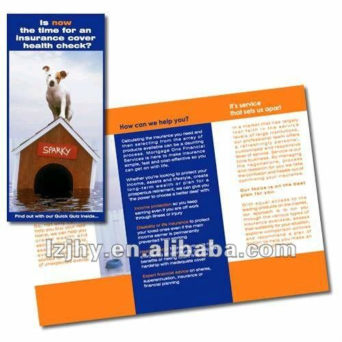 promotion art paper brochure printing& instruction manuals printing