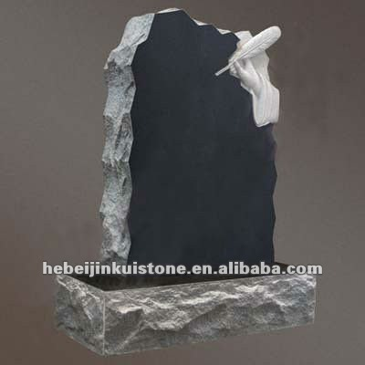 US Style Black granite monument