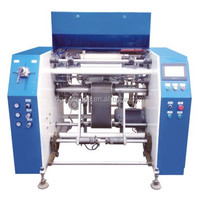 Fully automatic cling film rewinding machine