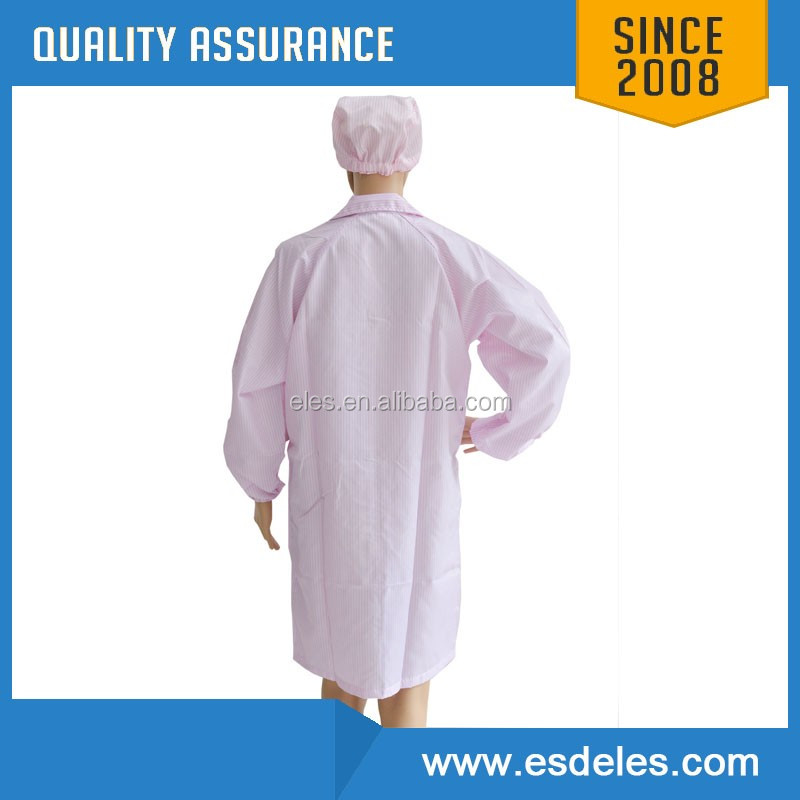 Customization Available 5mm Grid Cleanroom Antistatic ESD Garment