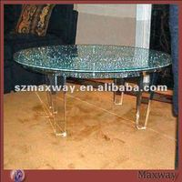 Eco-friendly round durable PMMA dining/tea table