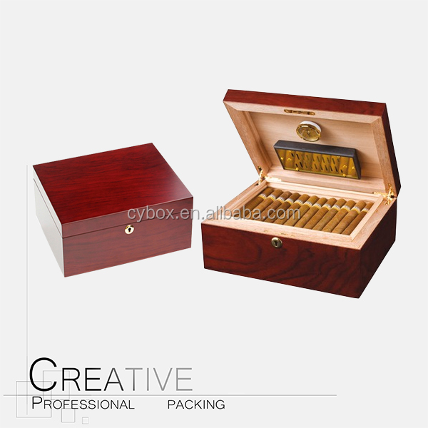 Removable Tray & External Hygromete for 100 Count Cigar Humidors