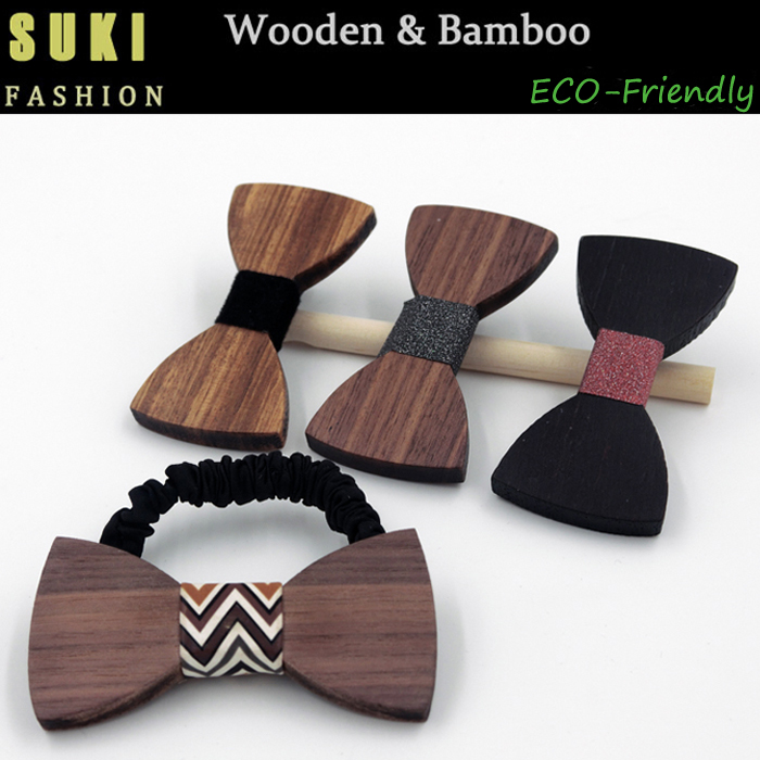 bowknot hairpin hair accessories wooden hairpin