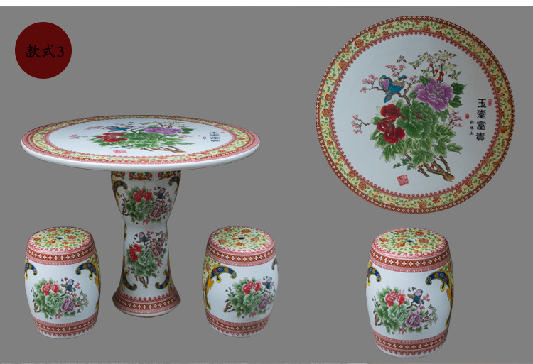 Jingdezhen High Quality Garden Furniture Ceramic Table Set For Retail And Wholesale