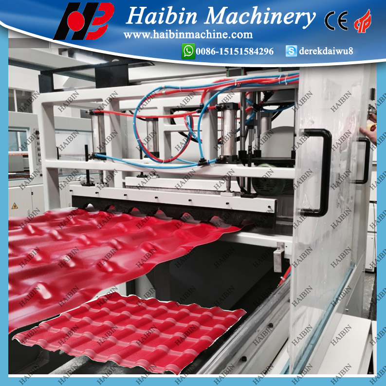 PVC ASA PMMA Plastic Glazed Roof Tile extruder production Making Machine