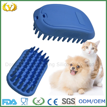 2016 new high quality cheap soft silicone pet washing brush for christmas gifts