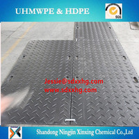 plastic ground cover mat for garden Manufacturer / antislip textured black HDPE road mat/grass protection mat