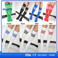 Hot Selling 2015 Aofeite Multicolor Over Knee Sports Cotton Socks Stocking