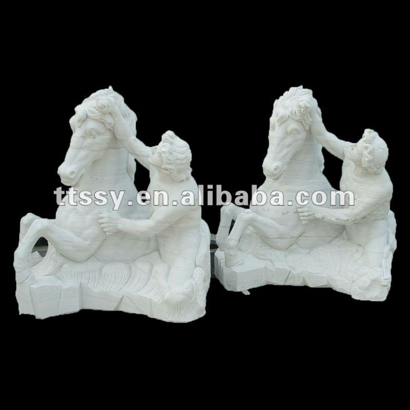 Natural stone animal statue for garden