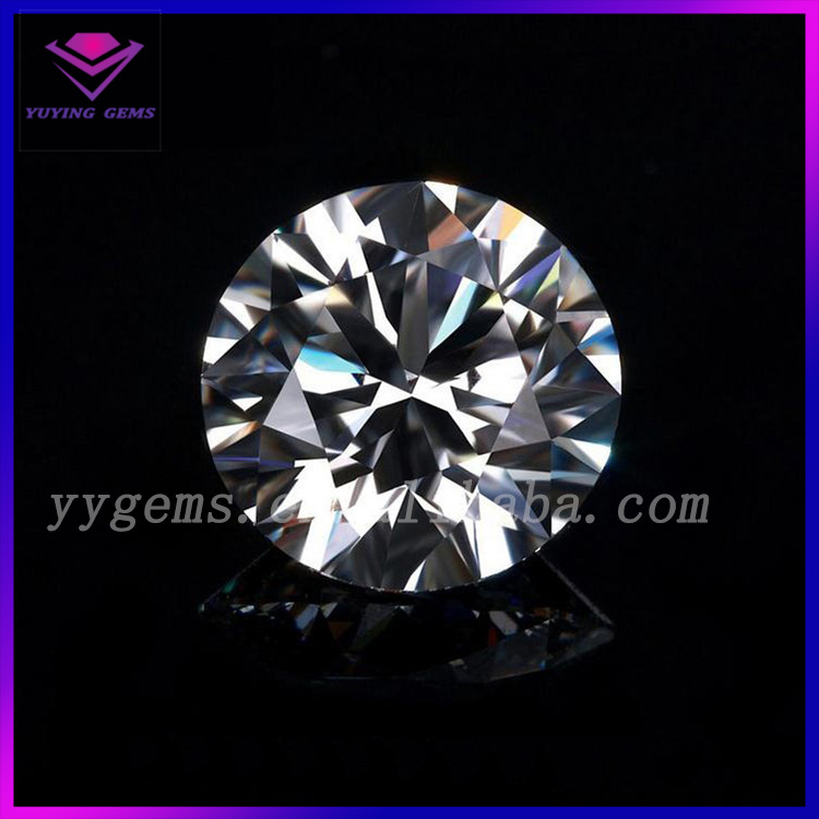 Lab Created Heat Treatment H color Moissanite Stone VVS Clarity Artificial Diamond