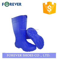 blue sheepskin neoprene rubber slipper boots