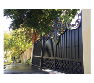 China Modern Automatic Iron Main door Gate Designs for sale