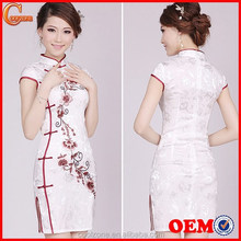 2015 Fashion Embroidery Traditional Chinese Clothing Women Elegant Vintage Cheongsam