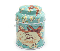 Decorative round herbal tea tins wholesale metal tea can packing