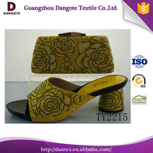 2016 Dangote New Arrival Shoes And Bags Italian Shoes And Matching Clutch Bag Europe Size38 To 42 Italian Design Shoes TY2215