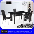 modern cheap restaurant table and 6 chairs