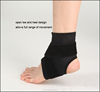 Customized Black Knitted Ribbing Sports Training Heel Ankle Support Protector Sleeve